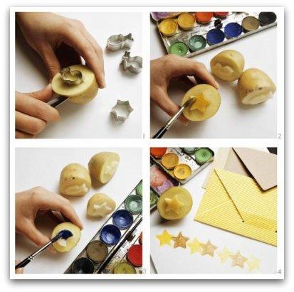 How to make potato stamps and prints