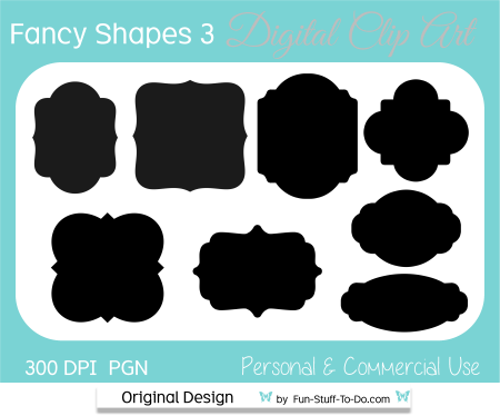 fancy shape label and tags