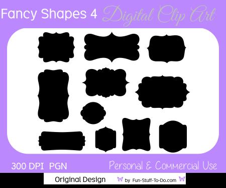 Fancy Shapes Bracket Labels