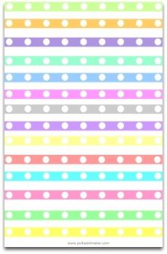 polka dot paper, paper lint, paper ribbon, free borders, free dividers, pastel pink, pastel green, pastel blue, pastel yellow, lavender,