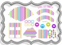 party, decorations, supplies, ideas, 1st, birthday, decorating, kids, candy, stripes, fun, cupcake, printable, free, pink, purple, yellow, orange, lime, blue, red, green, tea, garden