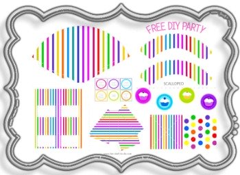 candy stripes, candy party decorations, birthday party themes, kids birthday party supplies, birthday party hats, birthday party decoration, party decorating ideas, free party kits, birthday kits