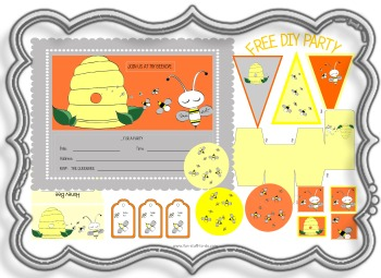 Honey Bee Party Sweet Decoration Ideas Invitation