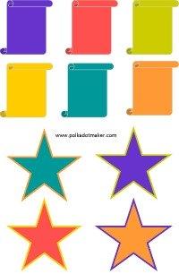free tags, free labels, free cards, free stars, free scrolls