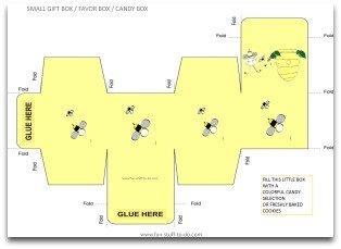 free box templates, party box template, box templates free, free gift box template, favor box template, printable gift box