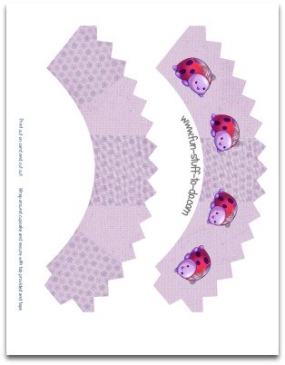 cupcake sleeves, cupcake holders, cupcake wrappers, lady bug cupcake sleeves, floral cupcake sleeves, purple cupcake sleeves