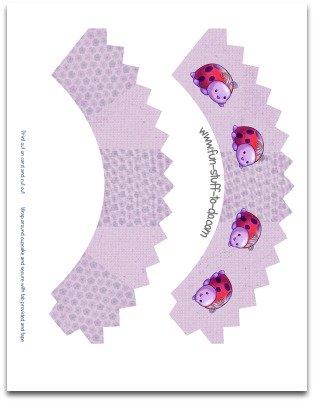 cupcake sleeves, cupcake holders, cupcake wrappers, lady bug cupcake sleeves, floral cupcake sleeves, purple cupcake sleeves