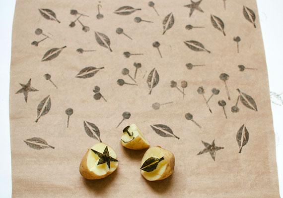 potato print fabric
