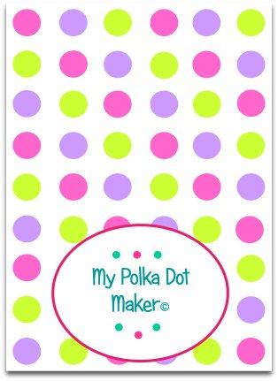 pastel polka dots, candy polka dots, green polka dots, peach polka dots, orange polka dots