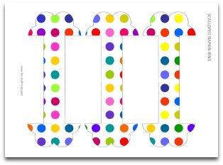 napkin rings, paper napkin rings, free printable, free template, birthday party decoration, polka dots