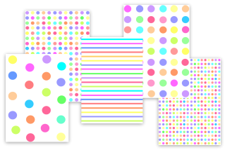 mixed candy color polka dots