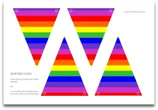 Party Banner Bunting Flags Decoration Wall Flagsrainbow