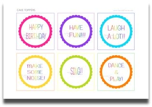 cake toppers, free printable, birthday party decorations, party decorating ideas, theme party decorations, party decoration ideas, kids birthday party supplies
