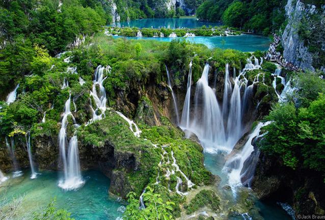 Ventisquero Waterfalls in Chile.