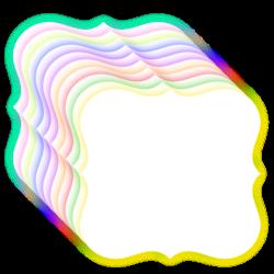 bracket frame - glow effect