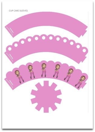 free printable pink cupcake wrappers