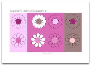 pink flower labels