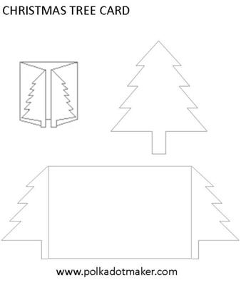 christmas tree card. Black Bedroom Furniture Sets. Home Design Ideas