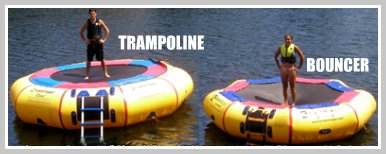 difference between water trampoline and water bouncer