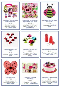 ladybug themed party items and toys