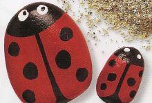 ladybugs pebble crafts