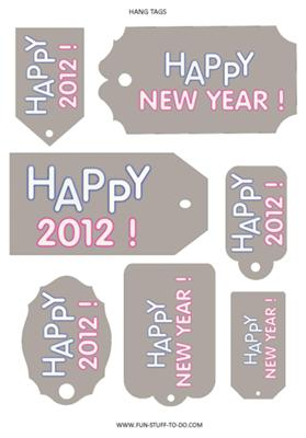 2012 New Year Tags