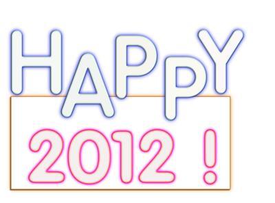 Happy 2012 Wording