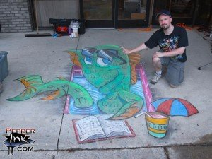 cool chalk art