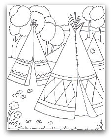 free tent coloring page