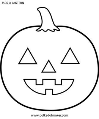 Halloween Jack-O-Lantern Template