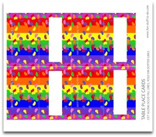 table place cards, free cards, free printable cards, party decorations, party decorating ideas, kids birthday party supplies,