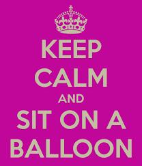 Keep calm balloon pop