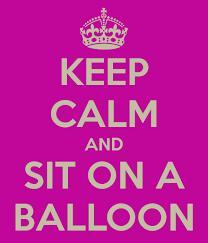 Keep calm balloon pop