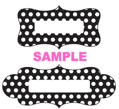 Label Sample - Black White Dots
