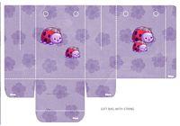 ladybug, party, favor, bag, purple, flower, floral, printable, to make, pattern, goodie