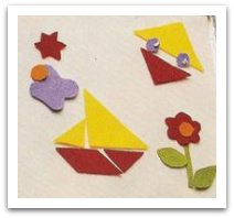 felt creations, geometric shapes, play tin, road trip games