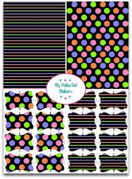polka dots on black