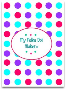 polka dots, candy, blue, purple, darkpink