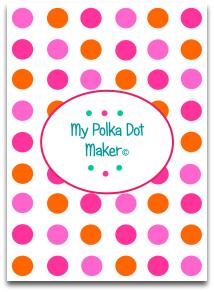 polka dots, candy, orange, pink