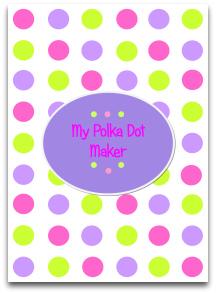 polka dots, candy, pink ,purple, green