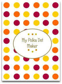 polka dots, templates, modern, trendy, craft
