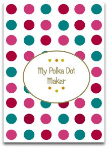 polka dots, modern, latest color trends, honey suckle