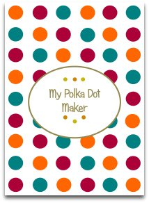 polka dot, modern, trendy colors, craft, templates
