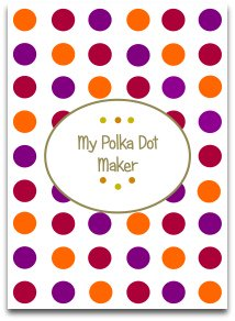 polka dots, modern colors, craft paper, templates, latest color trends