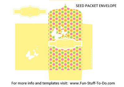 Seed Packet Envelope Yellow