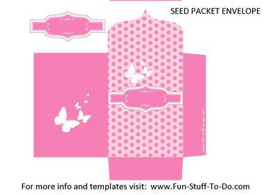 Seed Packet Envelope Pink