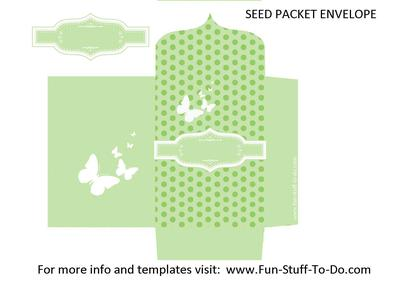 Seed Packet Envelope Green