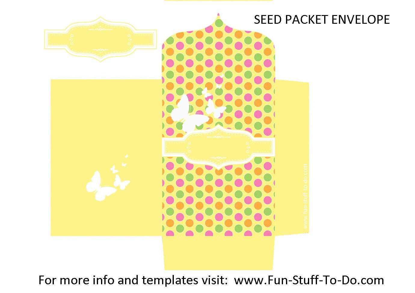 seed packet envelope made with transparent overlay template from Fun-stuff-to-do.com