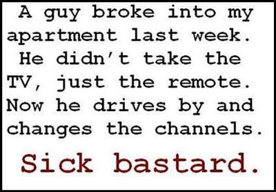Sick Bastard Funny Saying