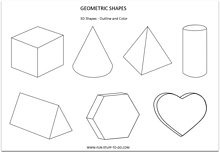 3 dimensional shapes outlines